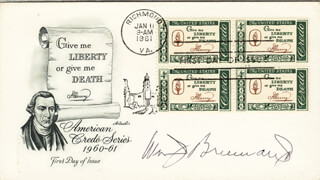 ASSOCIATE JUSTICE WILLIAM J. BRENNAN JR. - FIRST DAY COVER SIGNED