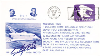 SALLY K. RIDE - SPECIAL COVER SIGNED 04/14/1981