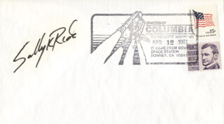 SALLY K. RIDE - SPECIAL COVER SIGNED