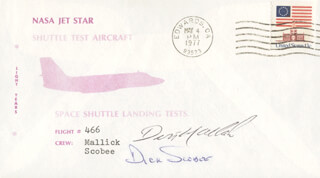 LT. COLONEL DICK (FRANCIS R.) SCOBEE - SPECIAL COVER SIGNED CO-SIGNED BY: LT. COMMANDER DONALD L. MALLICK
