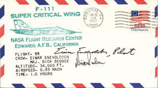 LT. COLONEL DICK (FRANCIS R.) SCOBEE - SPECIAL COVER SIGNED CO-SIGNED BY: EINAR ENEVOLDSON