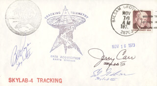 EDWARD G. GIBSON - ANNOTATED SPECIAL COVER SIGNED CO-SIGNED BY: COLONEL GERALD P. JERRY CARR, COLONEL WILLIAM R. BILL POGUE