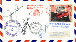 SKYLAB MISSION-3 CREW - SPECIAL COVER SIGNED 11/16/1973 CO-SIGNED BY: COLONEL GERALD P. JERRY CARR, EDWARD G. GIBSON, COLONEL WILLIAM R. BILL POGUE