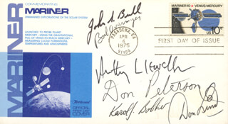 COLONEL ROBERT OVERMYER - FIRST DAY COVER SIGNED CO-SIGNED BY: COLONEL KAROL J. BOBKO, JOHN S. BULL, JOHN ANTHONY LLEWELLYN, COMMANDER DON L. LIND, COLONEL DONALD H. PETERSON