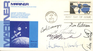 COLONEL ROBERT OVERMYER - FIRST DAY COVER SIGNED CO-SIGNED BY: JOHN ANTHONY LLEWELLYN, COMMANDER DON L. LIND, F. CURTIS MICHEL, COLONEL DONALD H. PETERSON, WILLIAM E. THORNTON
