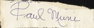 PAUL MUNI - CLIPPED SIGNATURE