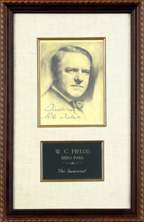 W. C. FIELDS - AUTOGRAPHED SIGNED PHOTOGRAPH