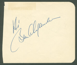 BEN ALEXANDER - AUTOGRAPH SENTIMENT SIGNED CO-SIGNED BY: SHIRLEY BOOTH