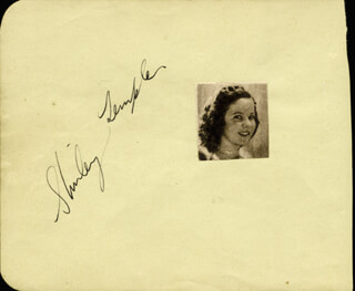 SHIRLEY TEMPLE - AUTOGRAPH CO-SIGNED BY: VINCE BARNETT