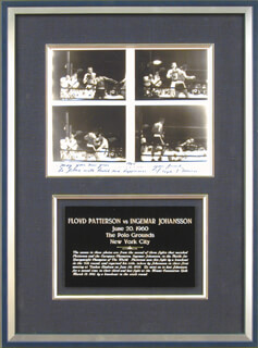 FLOYD PATTERSON - AUTOGRAPHED SIGNED PHOTOGRAPH 1985 CO-SIGNED BY: INGEMAR JOHANSSON