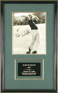 TOM WATSON - AUTOGRAPHED SIGNED PHOTOGRAPH