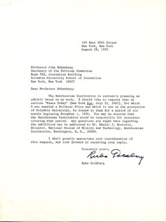 RUBE GOLDBERG - TYPED LETTER SIGNED 08/28/1970