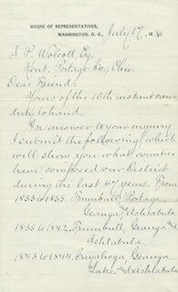 PRESIDENT JAMES A. GARFIELD - MANUSCRIPT LETTER SIGNED 07/17/1880