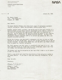 Autographs: CAPTAIN MICHAEL L. COATS - TYPED LETTER SIGNED 01/28/1980