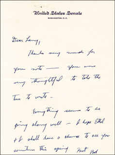 Autographs: ROBERT F. KENNEDY - AUTOGRAPH LETTER SIGNED