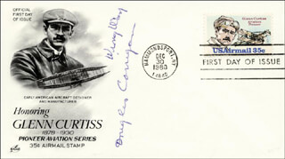 DOUGLAS WRONG WAY CORRIGAN - FIRST DAY COVER SIGNED