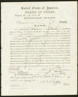 RECONSTRUCTION DOCUMENT: OATH OF ALLEGIANCE - DOCUMENT SIGNED 07/01/1867 CO-SIGNED BY: WILL RYAN, W. C. PHIPPS, COLONEL C. C. MOORE