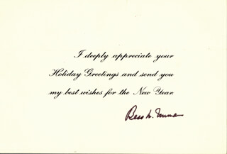 Autographs: FIRST LADY BESS W. TRUMAN - NEW YEAR'S CARD SIGNED