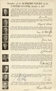 ASSOCIATE JUSTICE ABE FORTAS - BOOK PAGE SIGNED