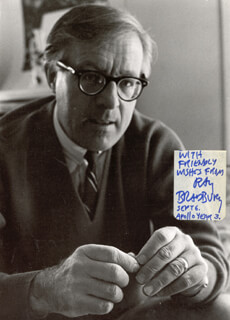 RAY BRADBURY - AUTOGRAPHED INSCRIBED PHOTOGRAPH 09/06/1972