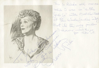 IRENE RICH - AUTOGRAPH NOTE SIGNED