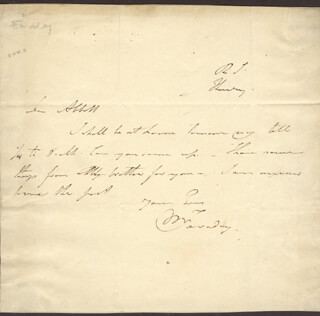 MICHAEL FARADAY - AUTOGRAPH LETTER SIGNED
