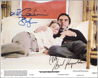 STARTING OVER MOVIE CAST - AUTOGRAPHED SIGNED PHOTOGRAPH CO-SIGNED BY: CANDICE BERGEN, BURT REYNOLDS
