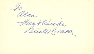 BUSTER CRABBE - AUTOGRAPH NOTE SIGNED