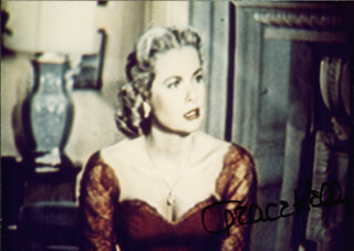 PRINCESS GRACE KELLY (MONACO) - AUTOGRAPHED SIGNED PHOTOGRAPH