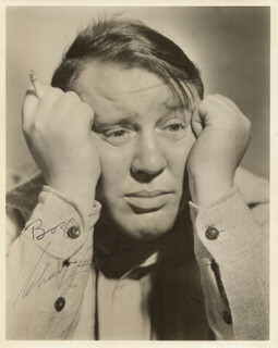 CHARLES LAUGHTON - AUTOGRAPHED SIGNED PHOTOGRAPH