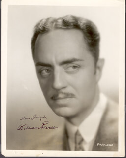 WILLIAM POWELL - AUTOGRAPHED INSCRIBED PHOTOGRAPH
