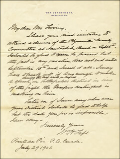 PRESIDENT WILLIAM H. TAFT - AUTOGRAPH LETTER SIGNED 07/29/1906