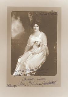 CLARA CLEMENS-GABRILOWITSCH - AUTOGRAPHED INSCRIBED PHOTOGRAPH 10/1921