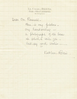 KATHLEEN THOMPSON NORRIS - AUTOGRAPH LETTER SIGNED