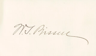 Autographs: WILSON S. BISSELL - SIGNATURE(S)