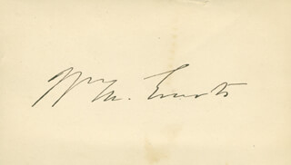 Autographs: WILLIAM M. EVARTS - SIGNATURE(S)