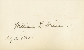 WILLIAM LYNE WILSON - AUTOGRAPH 07/12/1898