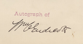 Autographs: WILLIAM C. ENDICOTT - PRINTED CARD SIGNED IN INK