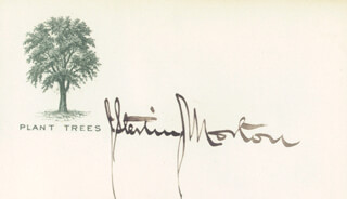 Autographs: JULIUS S. MORTON - PRINTED CARD SIGNED IN INK