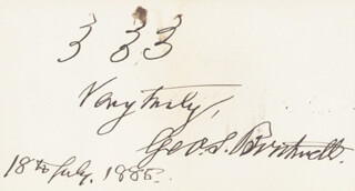 Autographs: GEORGE S. BOUTWELL - AUTOGRAPH SENTIMENT SIGNED 07/18/1885