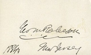 GEORGE M. ROBESON - AUTOGRAPH 1884