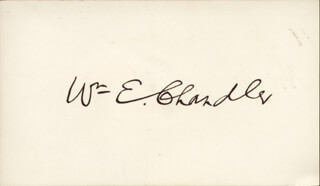 WILLIAM E. CHANDLER - AUTOGRAPH
