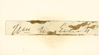 WILLIAM M. EVARTS - CLIPPED SIGNATURE