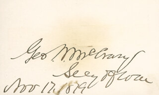 Autographs: GEORGE W. McCRARY - SIGNATURE(S) 11/17/1879