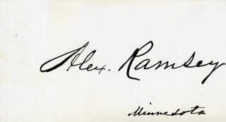 Autographs: ALEXANDER RAMSEY - SIGNATURE(S)