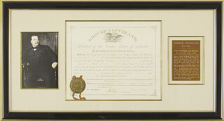 Autographs: PRESIDENT GROVER CLEVELAND - CIVIL APPOINTMENT SIGNED 02/03/1886 CO-SIGNED BY: WILLIAM F. VILAS