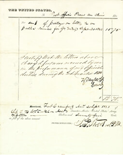 PRESIDENT ZACHARY TAYLOR - MANUSCRIPT DOCUMENT SIGNED 09/30/1833 CO-SIGNED BY: L. P. STREET