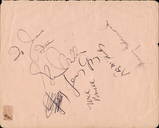 GLENN MILLER BAND (GLENN MILLER) - INSCRIBED SIGNATURE CO-SIGNED BY: JOHNNY DESMOND, RAY McKINLEY, MEL POWELL, JERRY GRAY