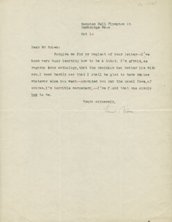 CONRAD AIKEN - TYPED LETTER SIGNED 10/19