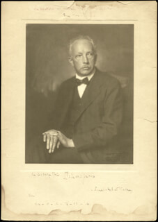 RICHARD STRAUSS - PHOTOGRAPH MOUNT SIGNED CIRCA 1914